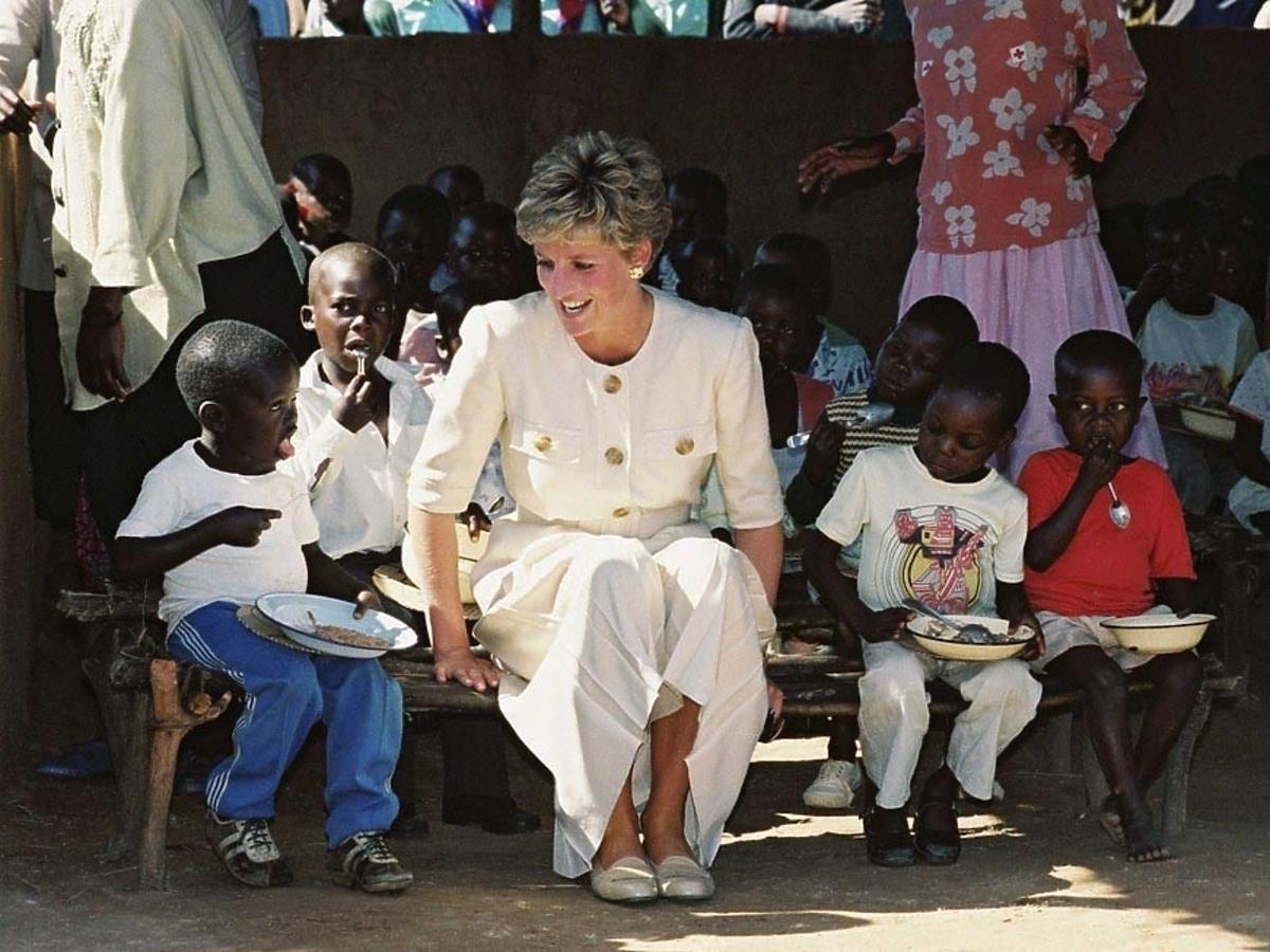 Księżna Diana - pomoc charytatywna