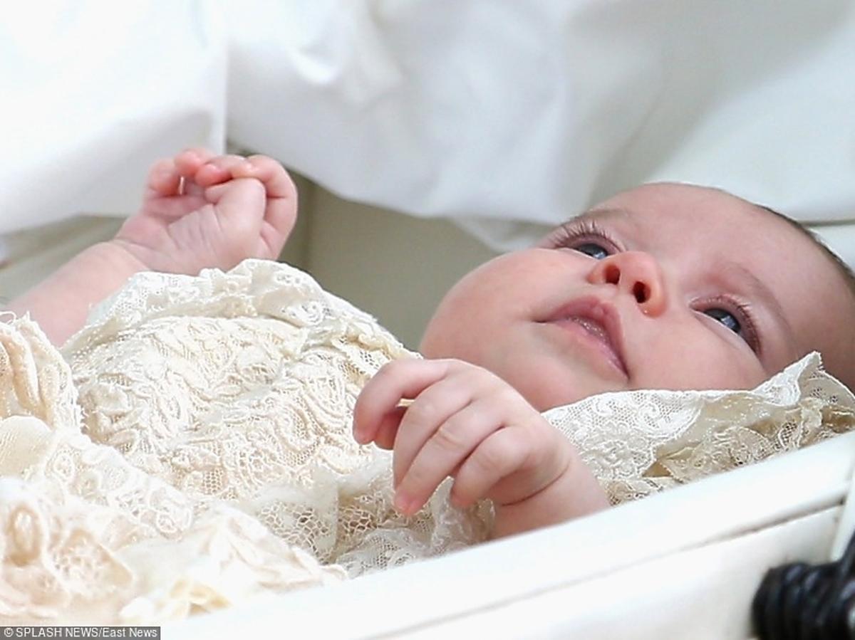 Księżniczka Charlotte w drodze na chrzest