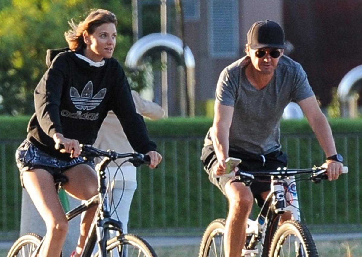 Kuba Wojewódzki i Renata Kaczoruk na rowerach