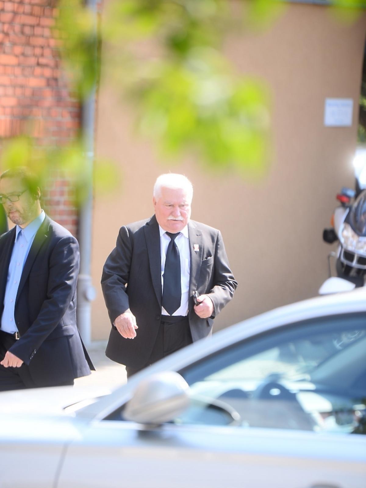 Lech Wałęsa na pogrzebie Jana Kulczyka