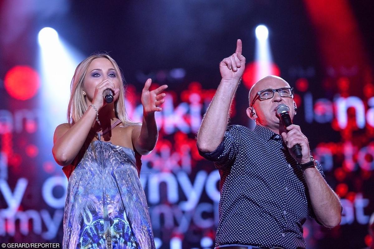 Lucky i Andrzej Krzywy na koncercie Lato Zet i Dwójki