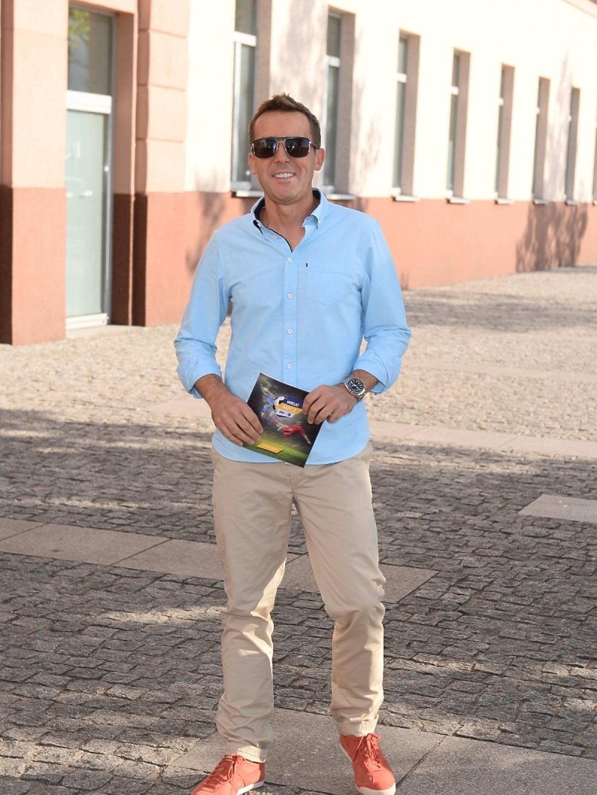 Maciej Kurzajewski Mecz Gwiazdy TVP kontra Gwiazdy TVN 2015