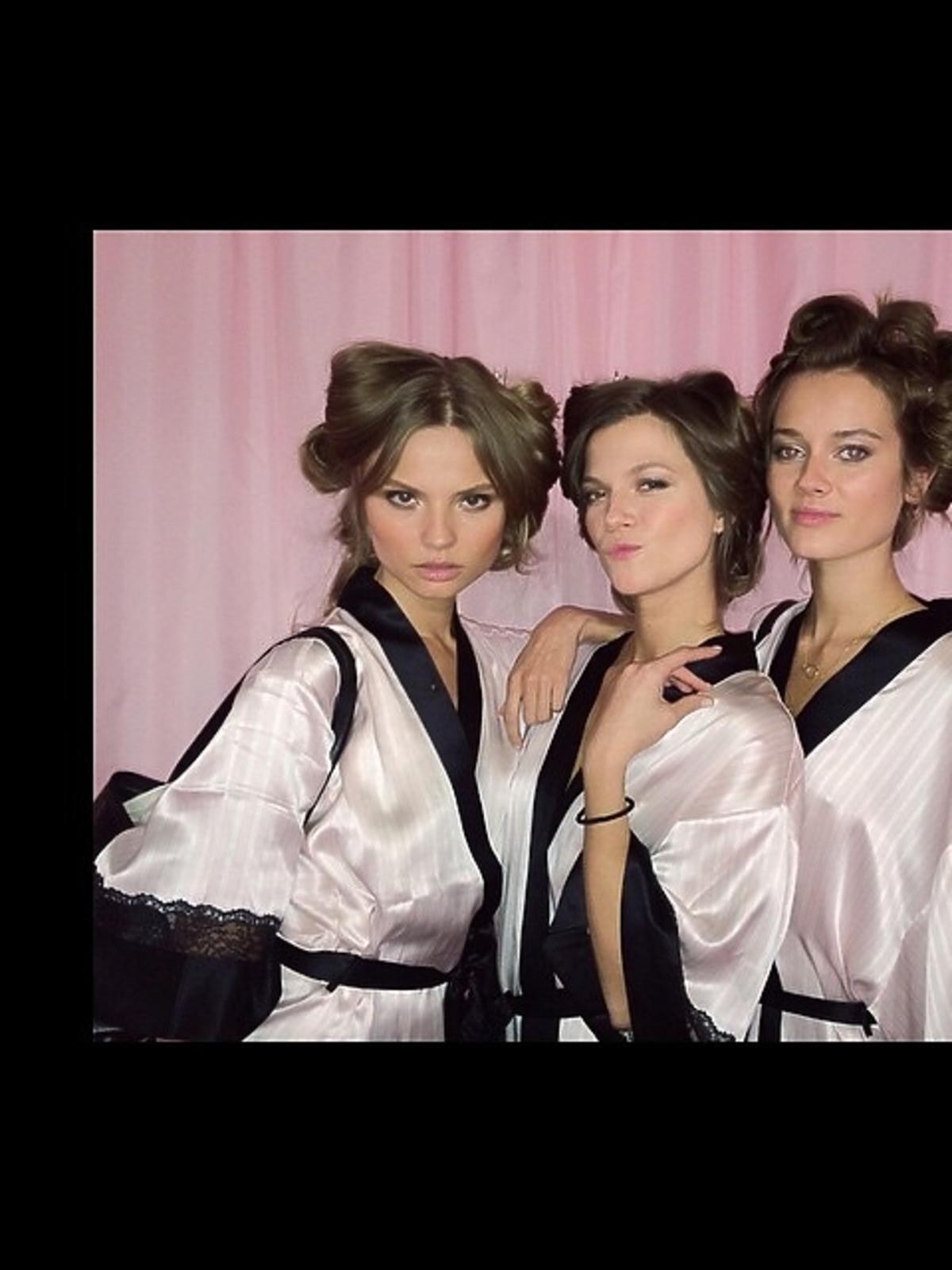 Magda Frąckowiak, Kasia Struss i Monika Jac Jagaciak na pokazie Victoria's Secret