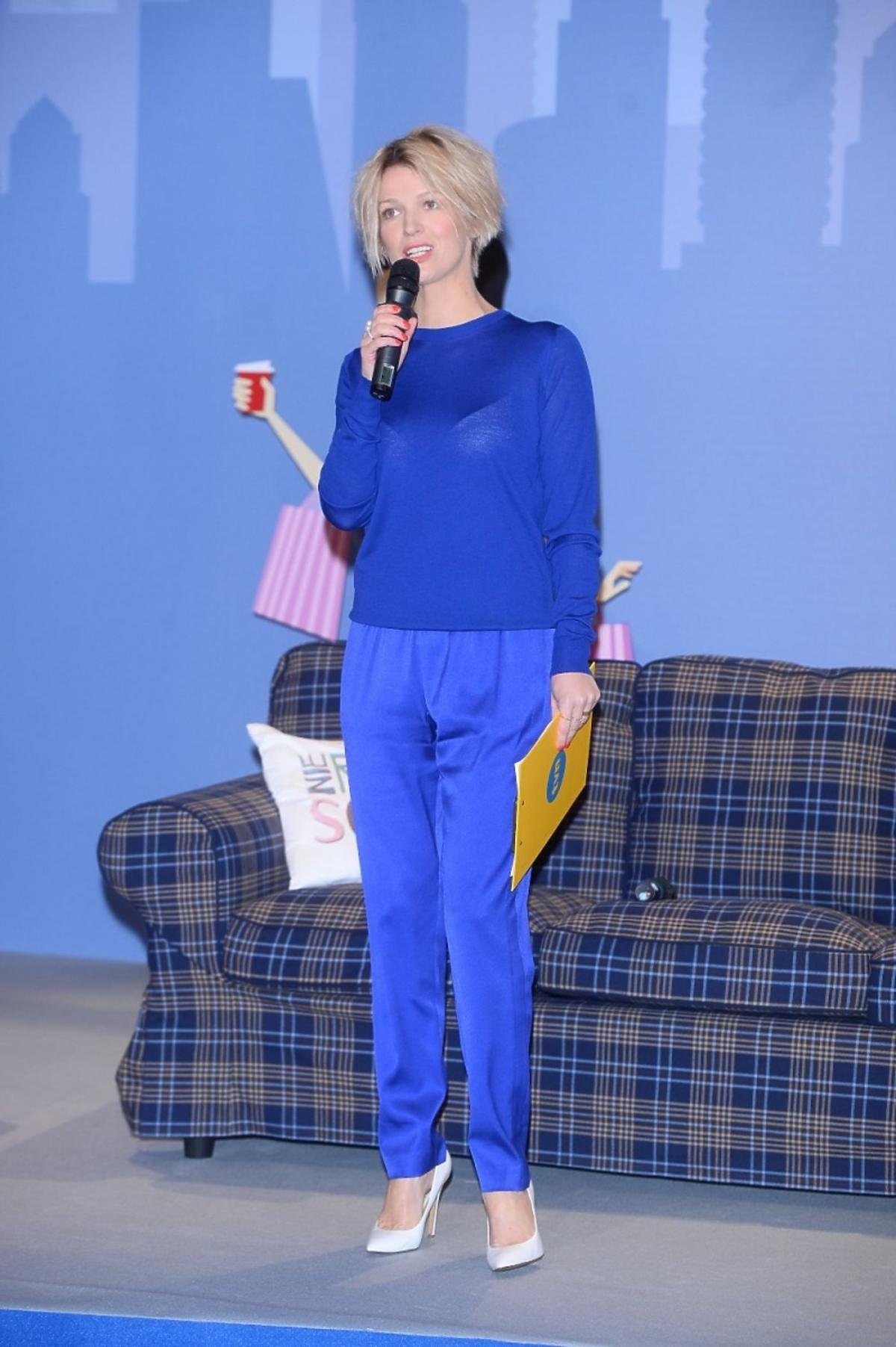 Magda Mołek na konferencji serialu