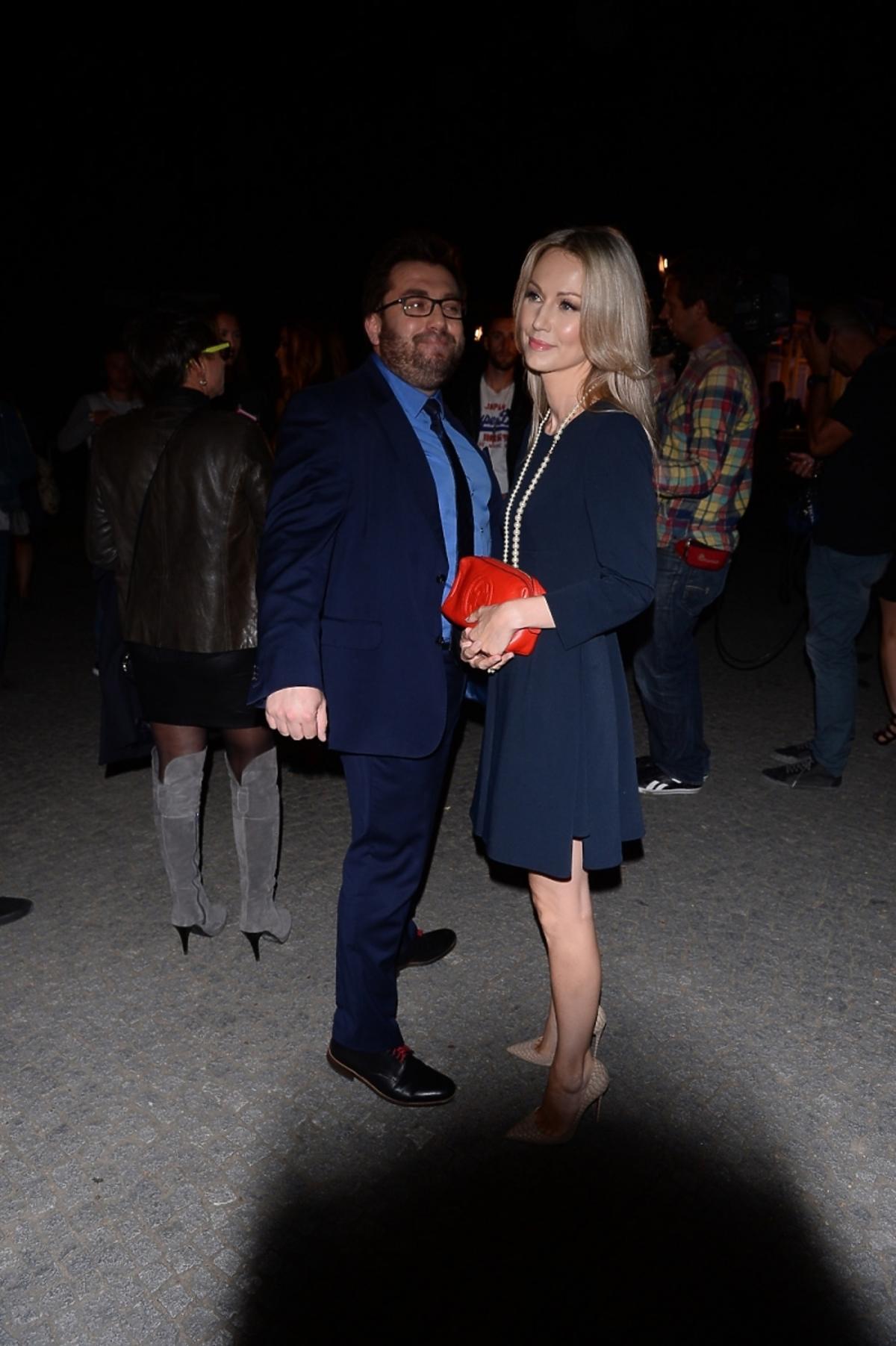 Magdalena Ogórek i Bartosz Węglarczyk na urodzinach Dzień Dobry TVN