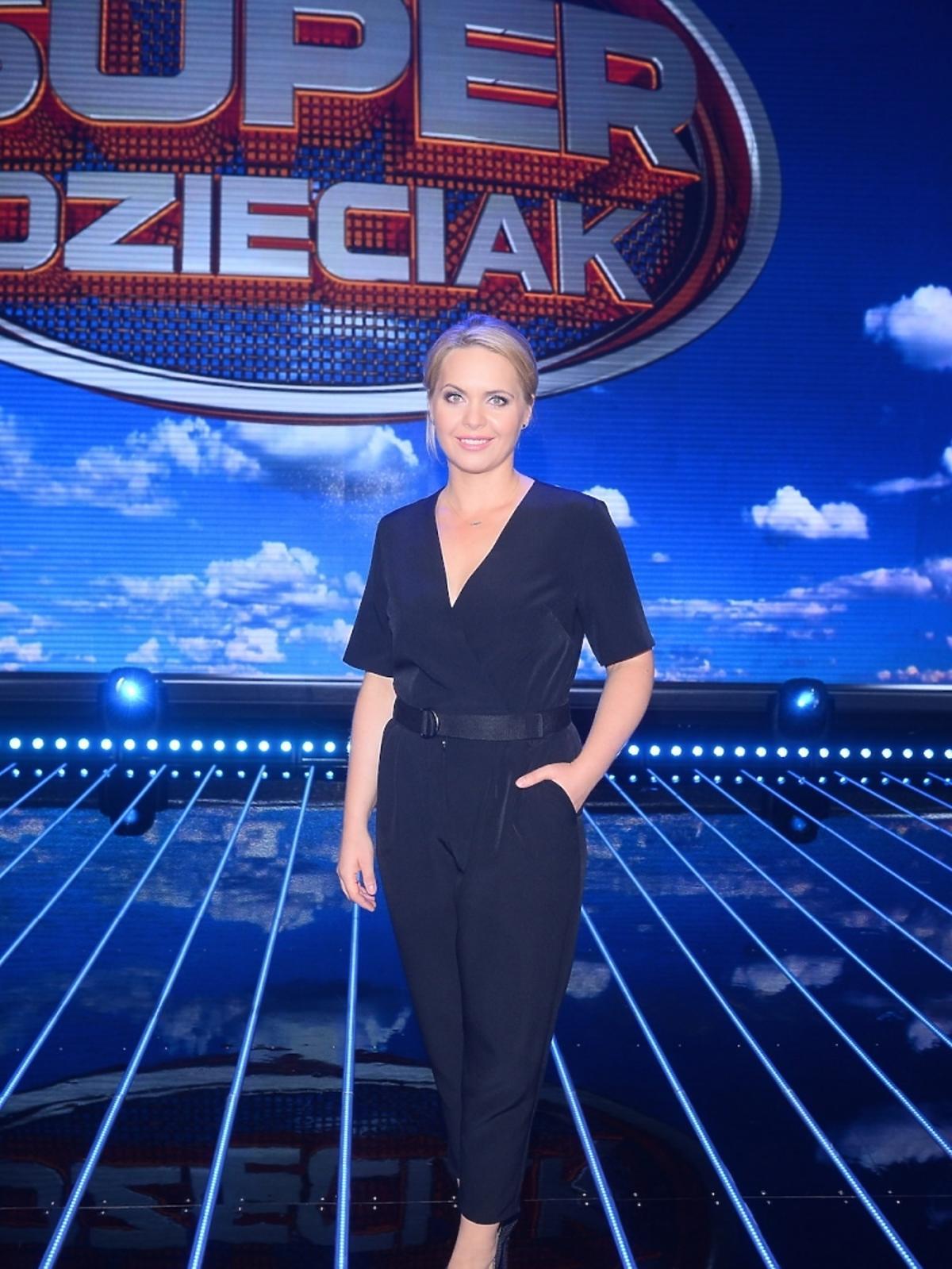 Magdalena Stużyńska na nagraniu programu SuperDzieciak