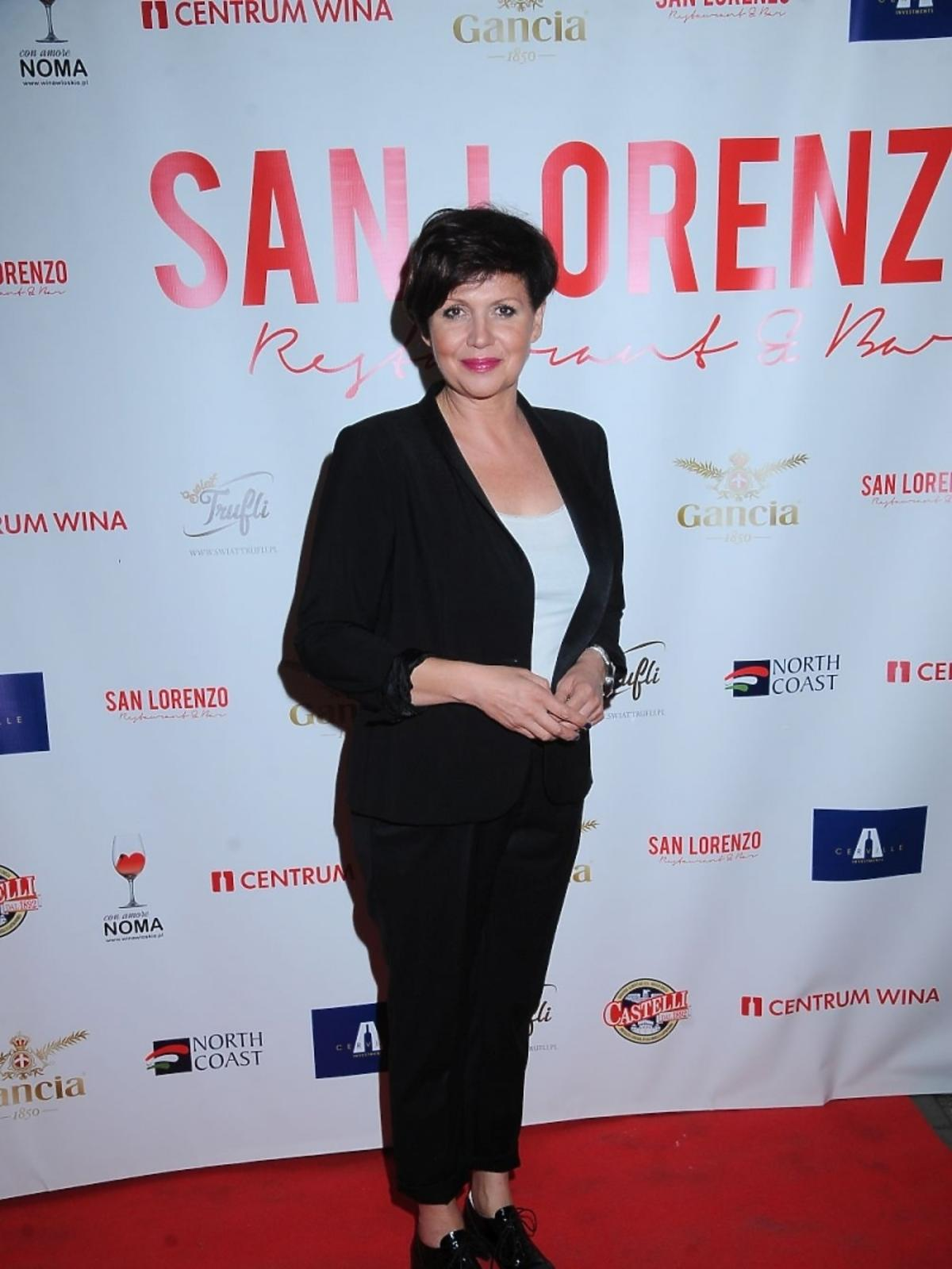 Małgorzata Pieńkowska otwarciu restauracji San Lorenzo