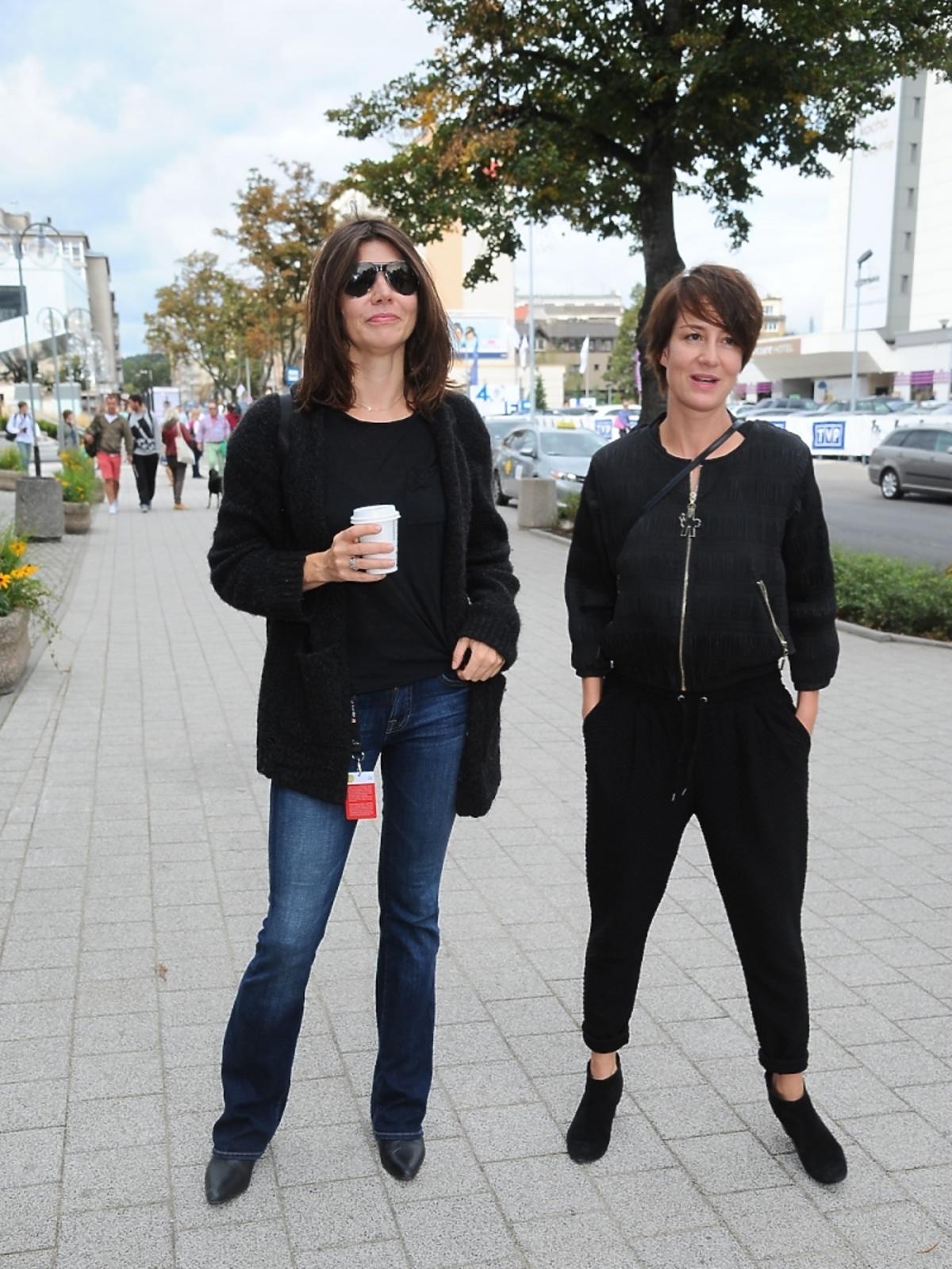 Małgorzata Szumowska i Maja Ostaszewska na Festiwalu Filmowym w Gdyni
