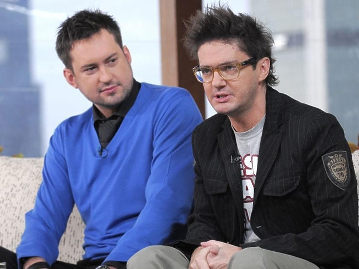 Marcin Prokop i Kuba Wojewódzki na kanapie w studiu Dzień dobry TVN