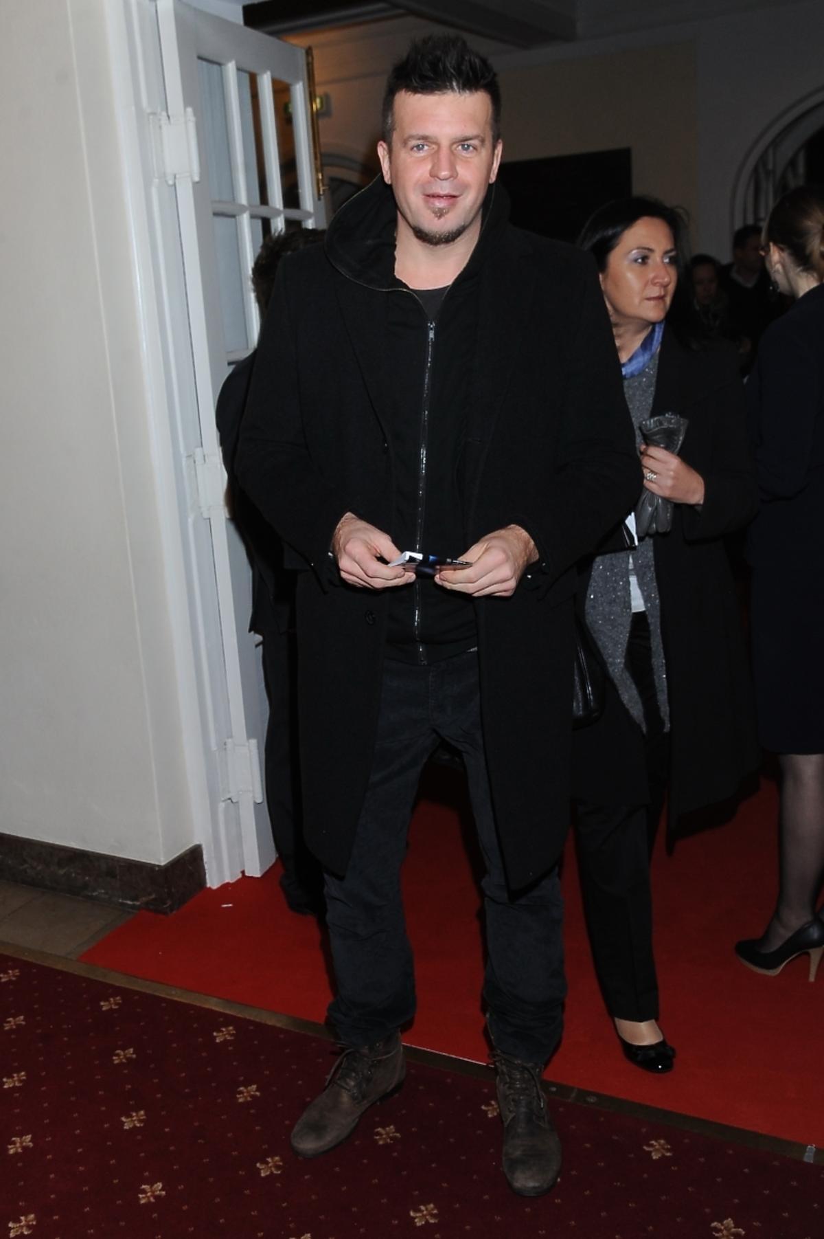 Marcin Wrona na premierze spektaklu