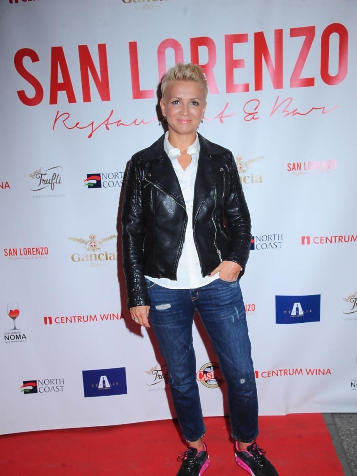 Marta Kuligowska na otwarciu restauracji San Lorenzo