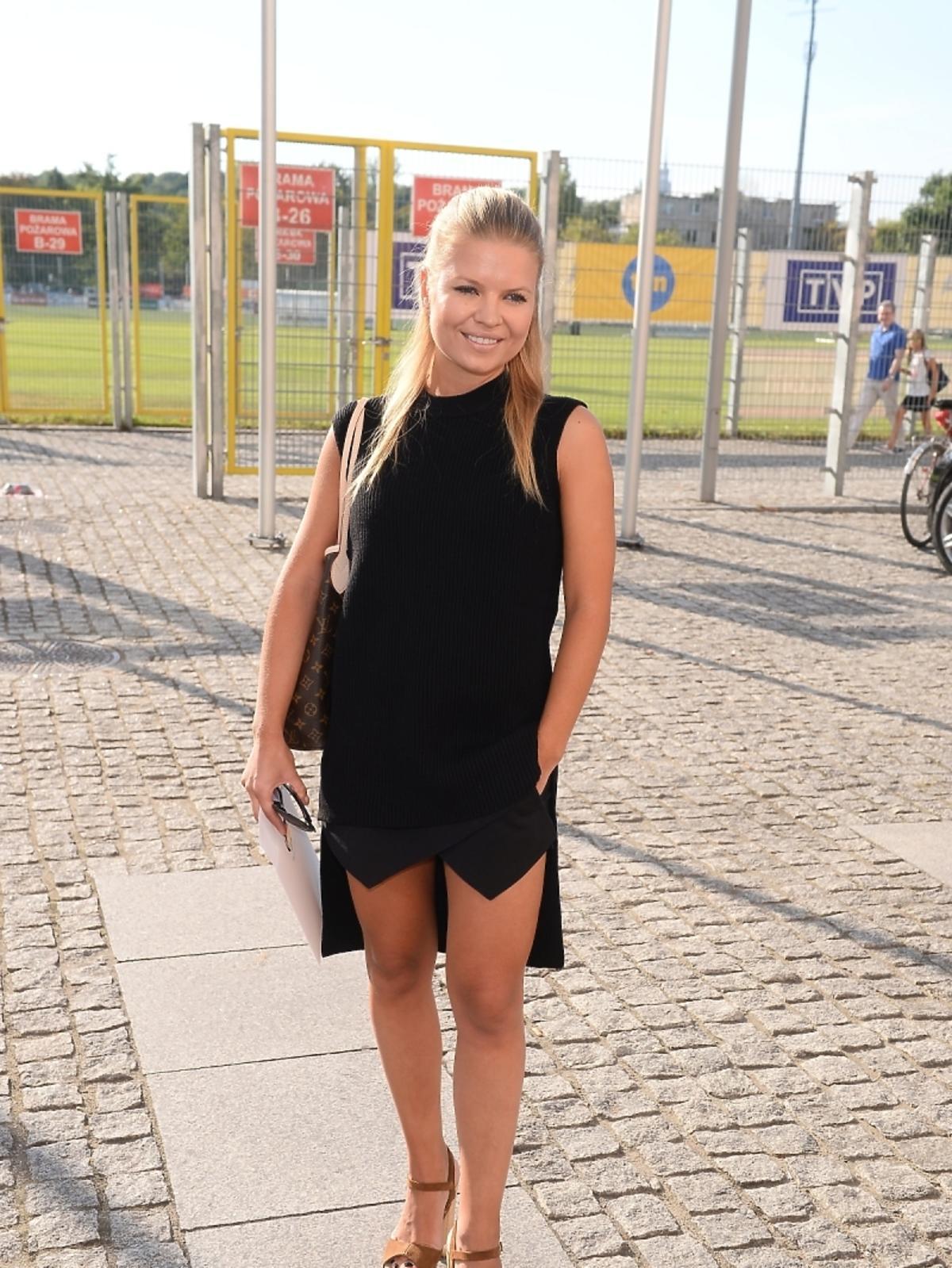 Marta Manowska mecz Gwiazdy TVP kontra Gwiazdy TVN 2015