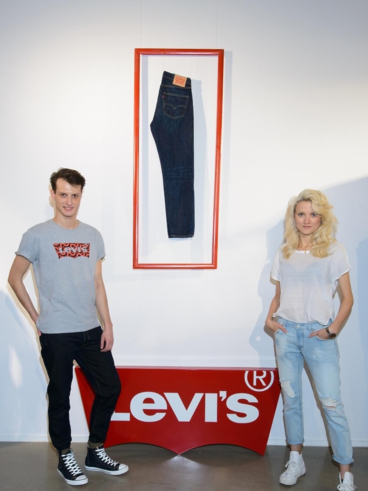 Marta Sędzicka i Daniel Uzdowski na prezentacji kolekcji Levi's SS2015