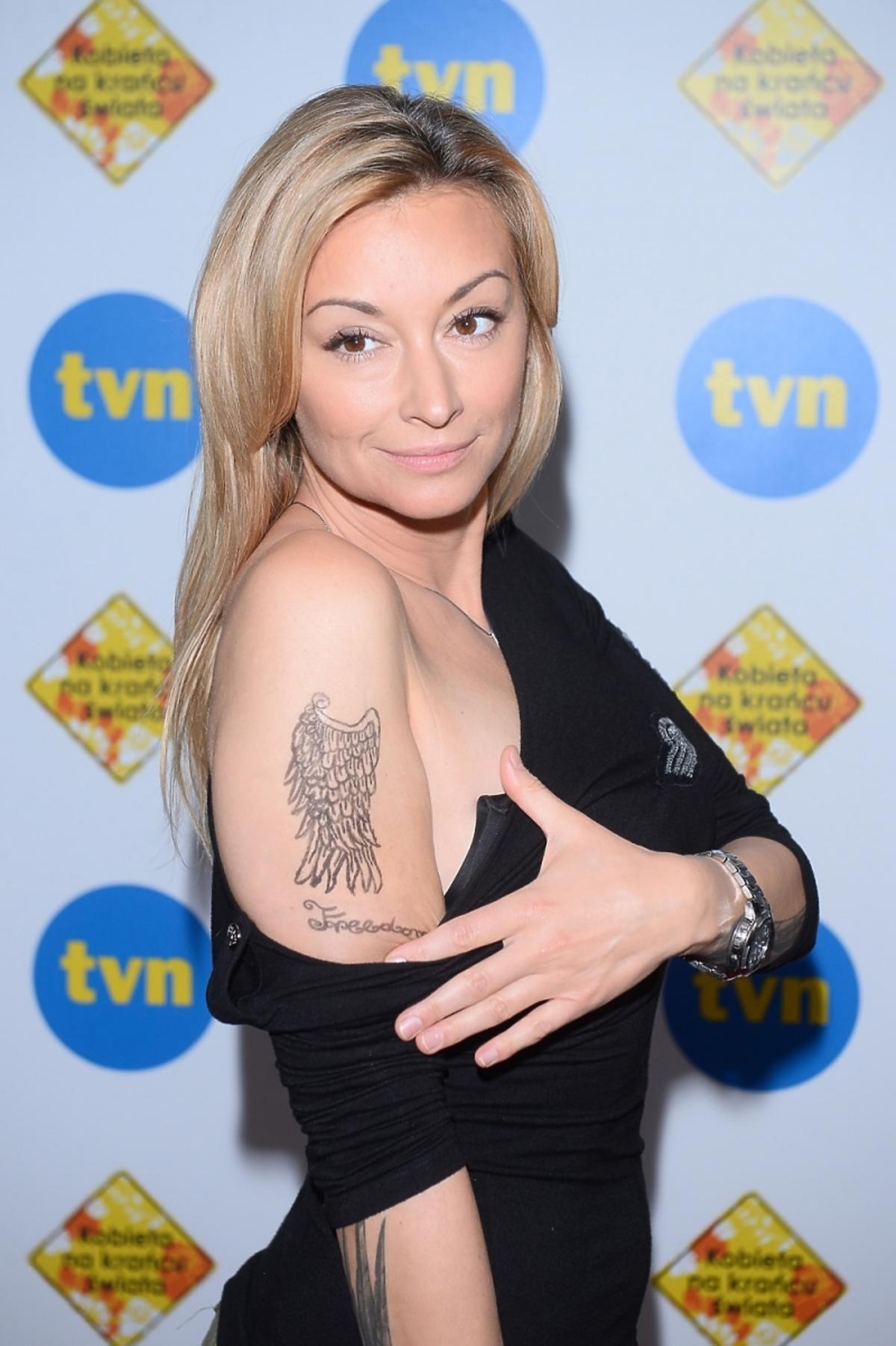 Martyna Wojciechowska pokazała tatuaże na konferencji