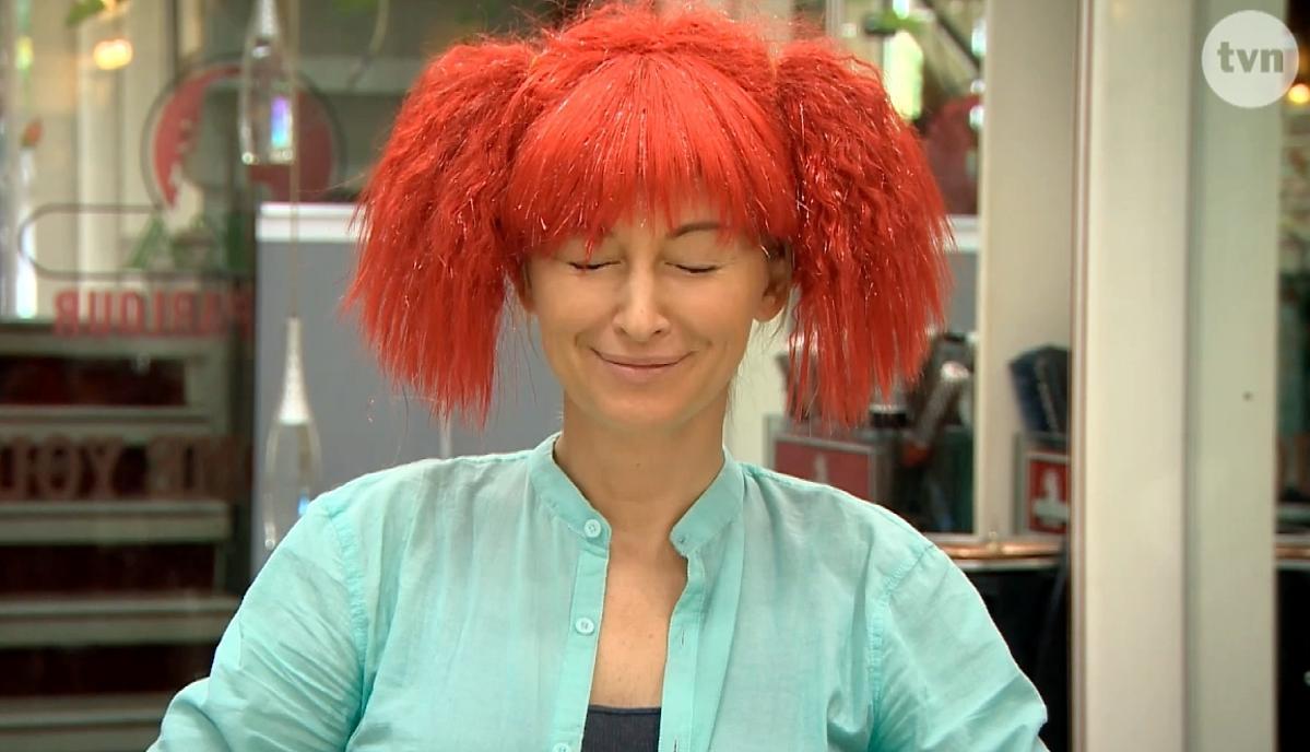 Martyna Wojciechowska w pomarańczowych włosach