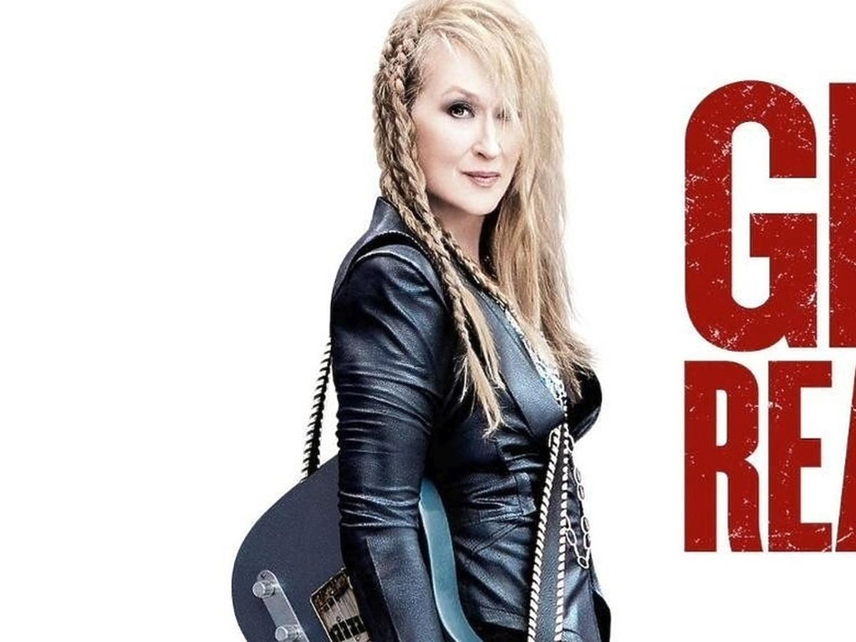 Meryl Streep z gitarą na plakacie filmu Nigdy nie jest za późno