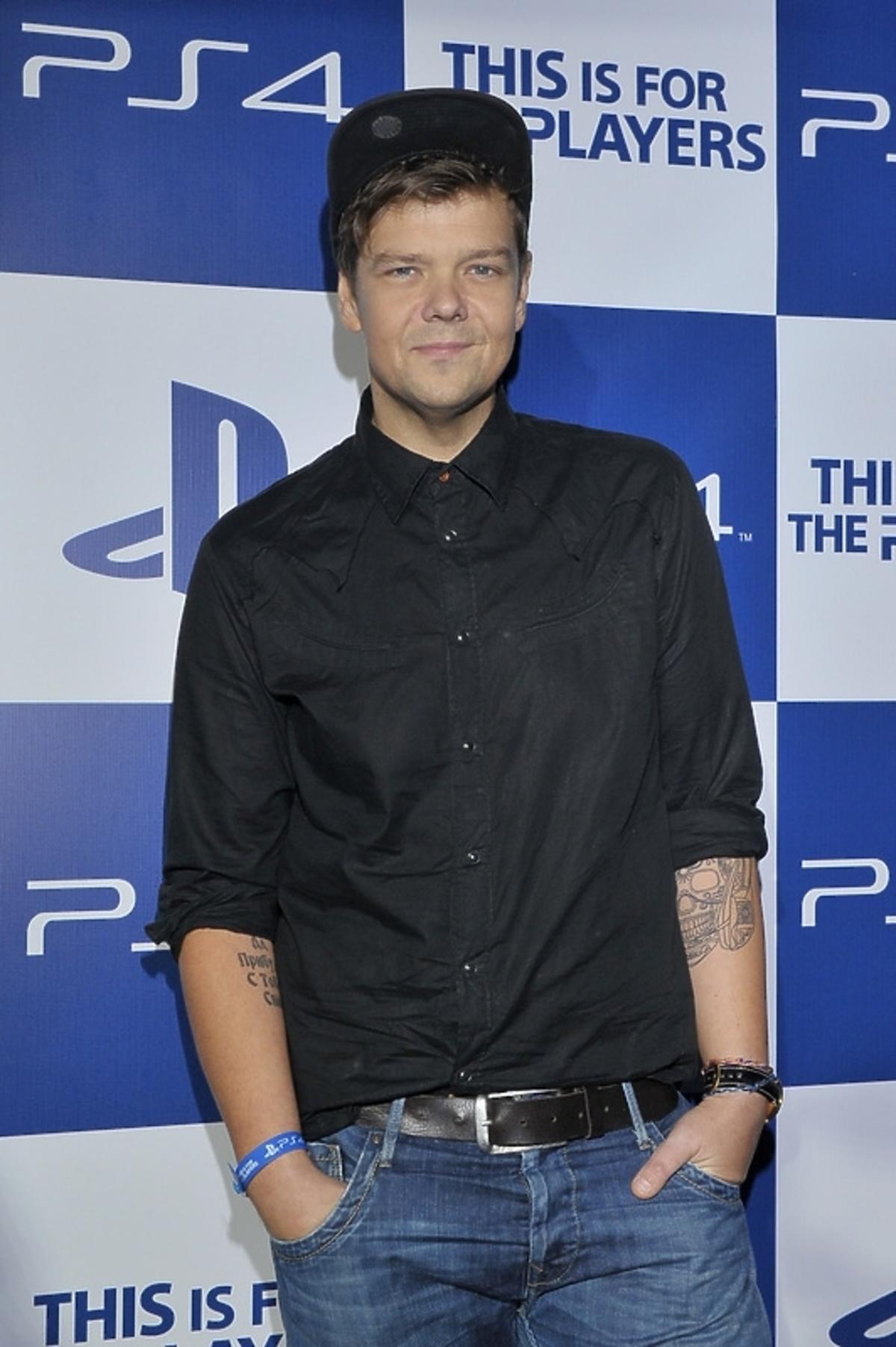 Michał Figurski na premierze Playstation 4