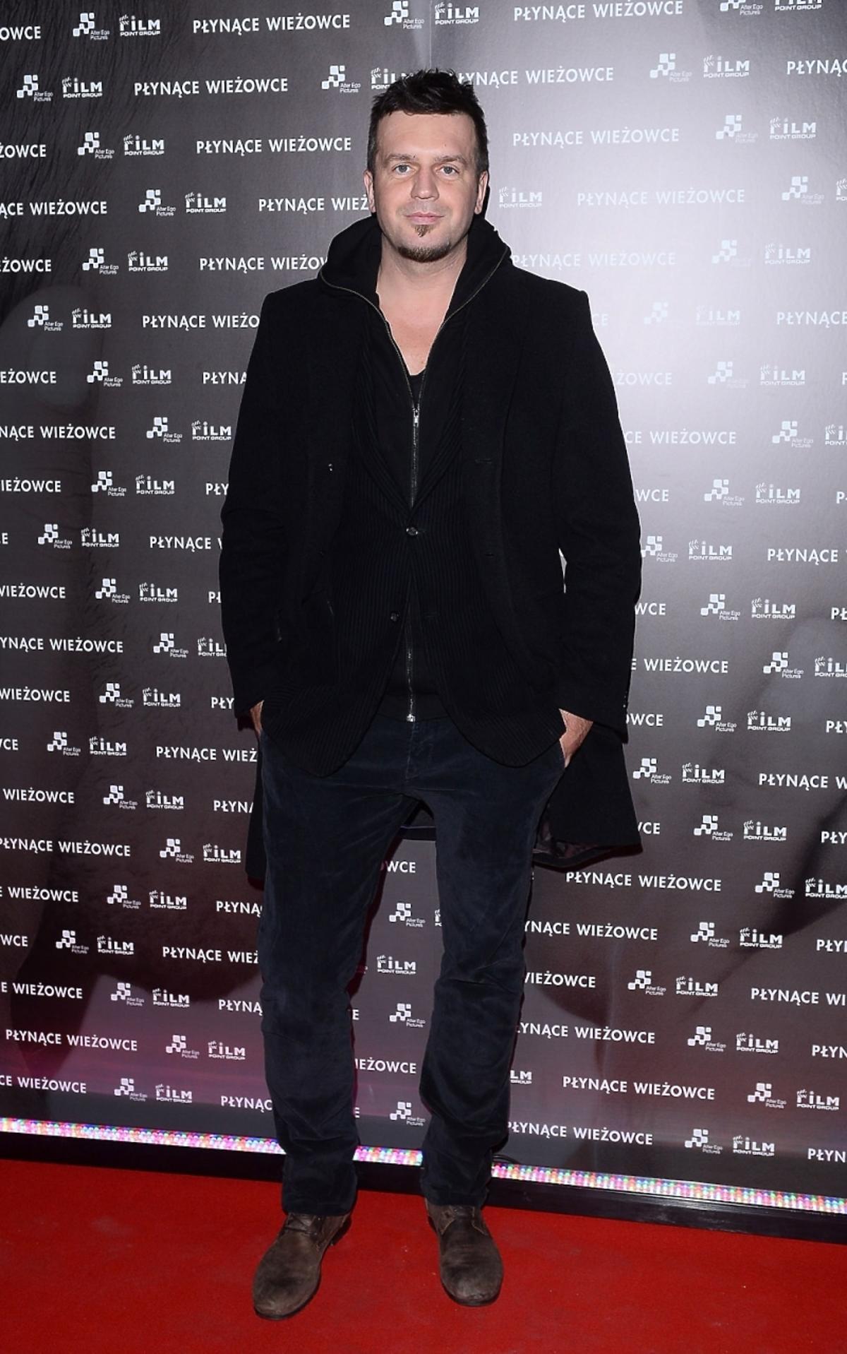 Michał Wrona na premierze filmu