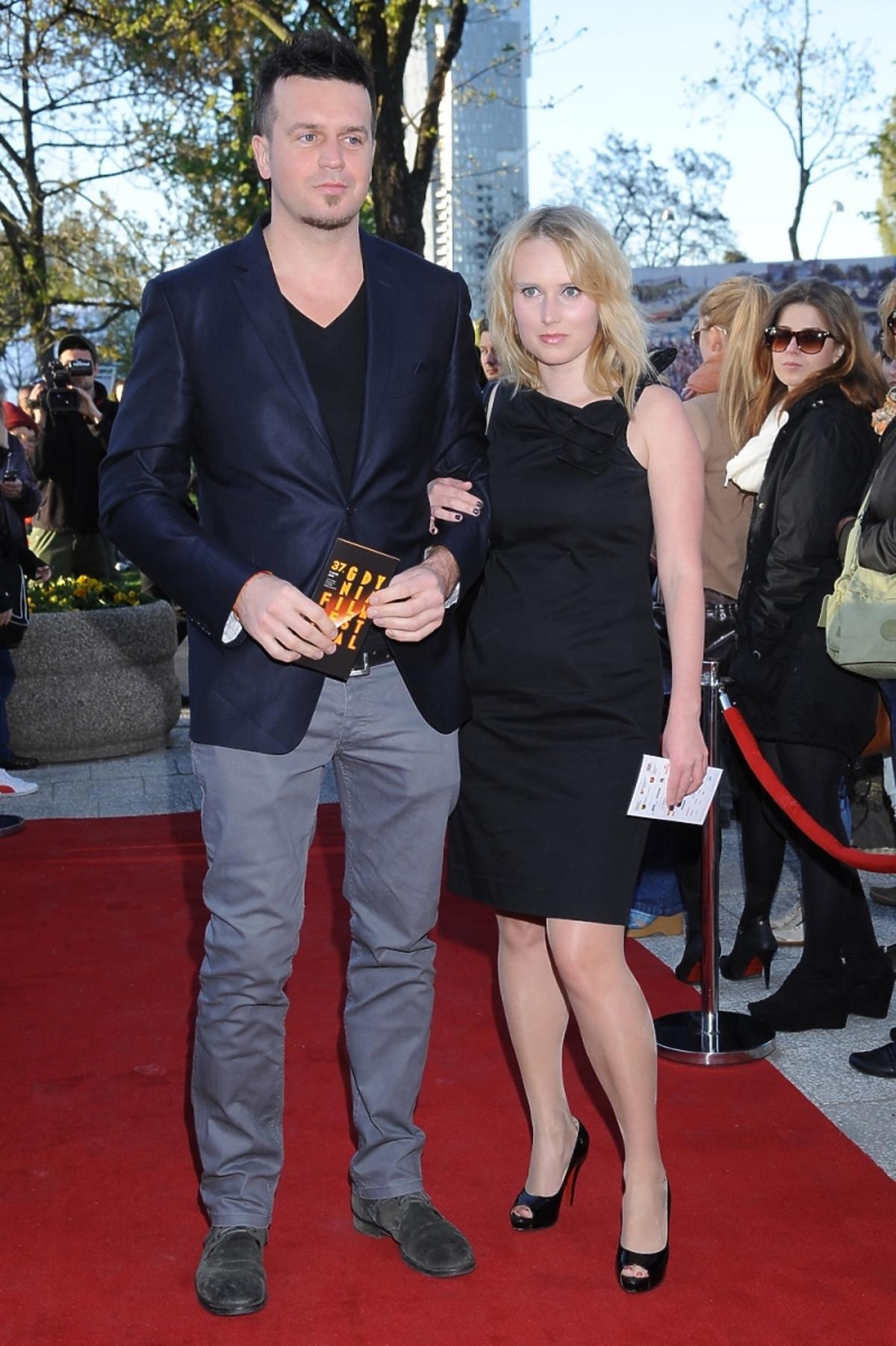 Michał Wrona z żoną