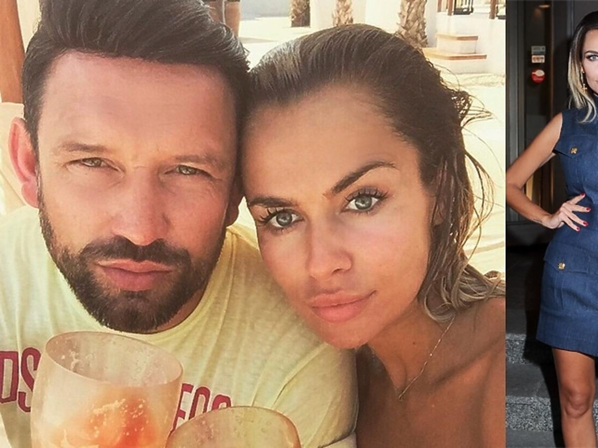 Natalia Siwiec w kostiumie z mężem na plaży i na otwarciu resturacji w dżinsowej sukience