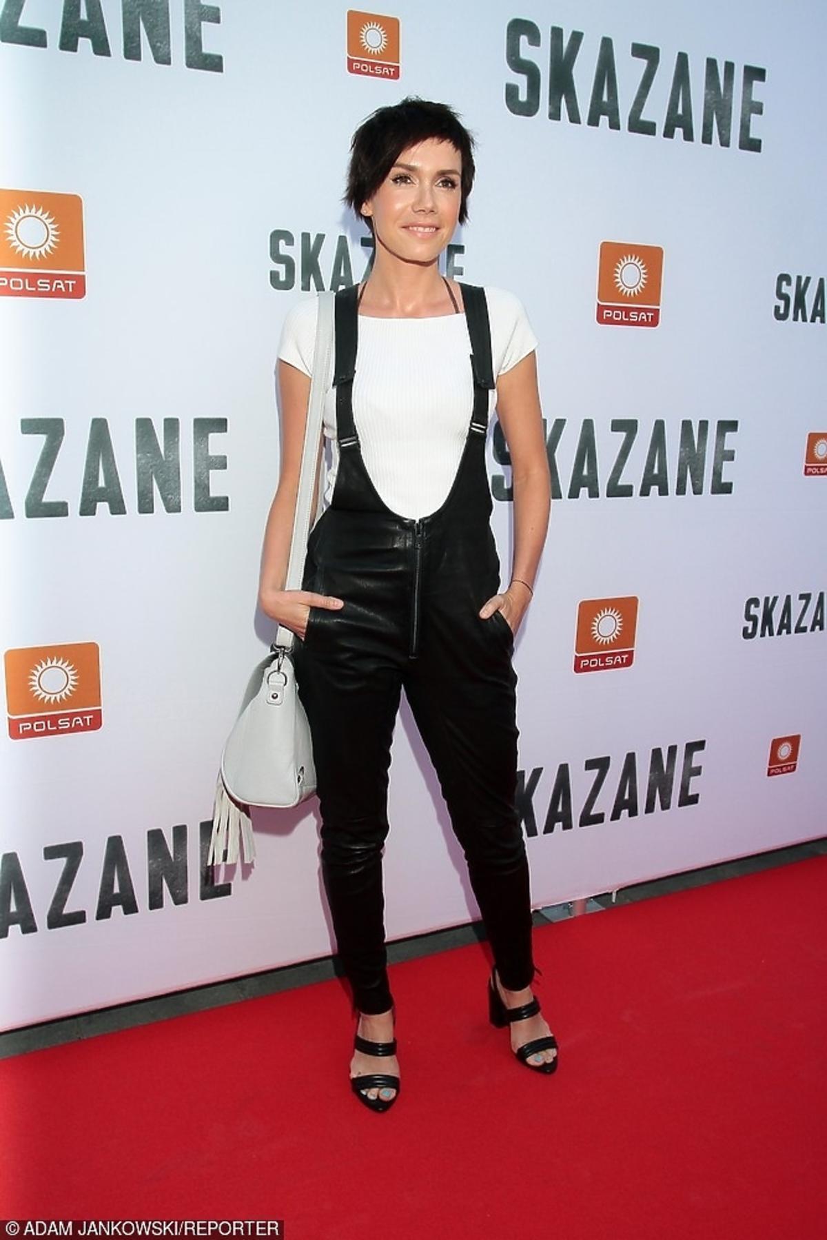 Olga Bołądź na premierze serialu