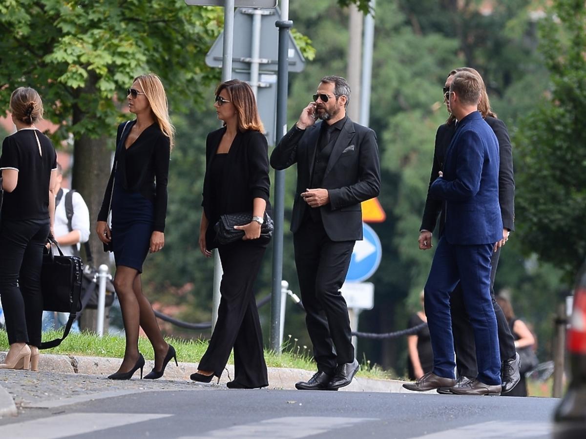 Paweł Deląg na pogrzebie Jana Kulczyka