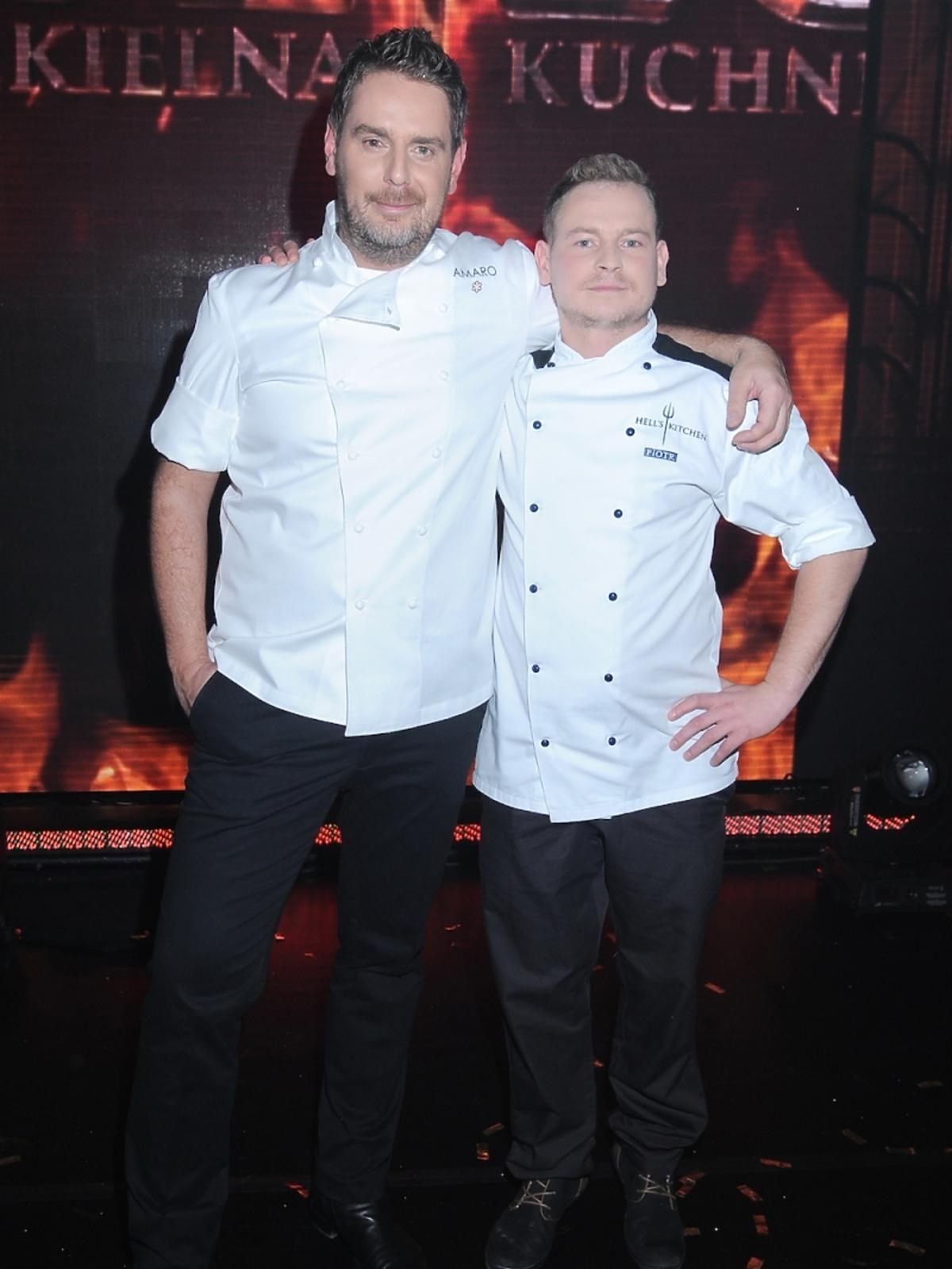 Piotr Ogiński i Monika Dąbrowska w finale drugiej edycji Hell's Kitchen