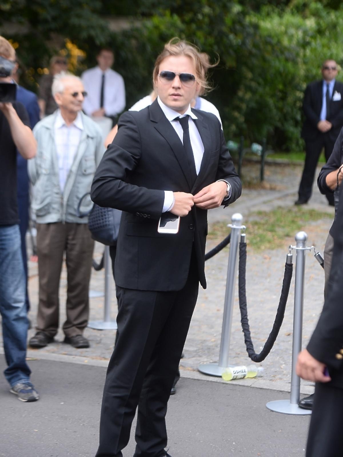 Piotr Woźniak Starak na pogrzebie Jana Kulczyka