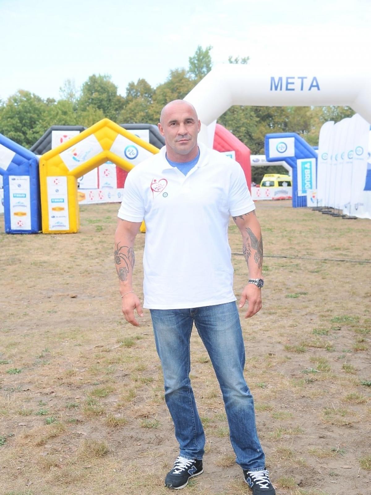 Przemysław Saleta na imprezie