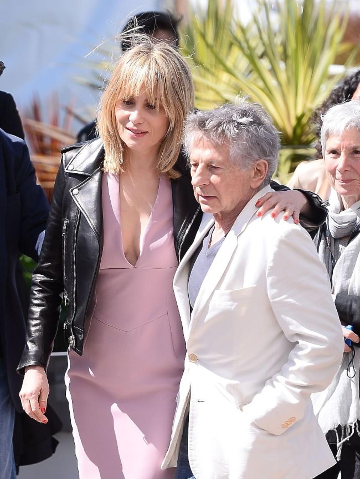 Roman Polański i Emmanuell Seigner w Cannes