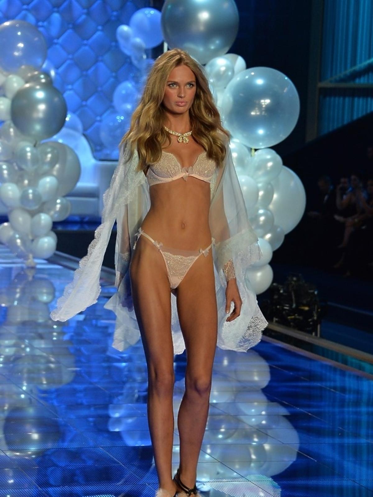 Romee Trijd na pokazie Victoria's Secret 2014