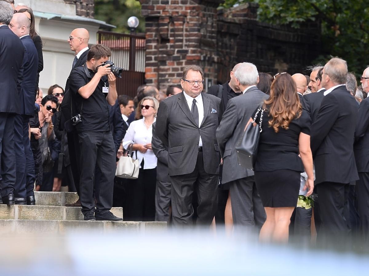 Ryszard Kalisz na pogrzebie Jana Kulczyka