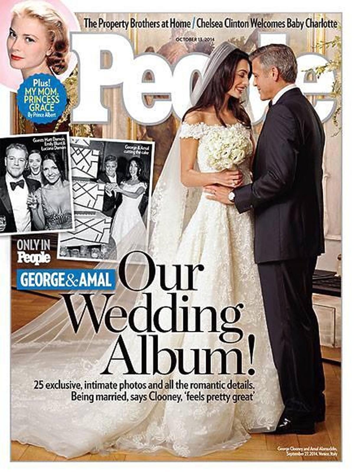 Ślub George Clooneya. George Clooney na okładce People