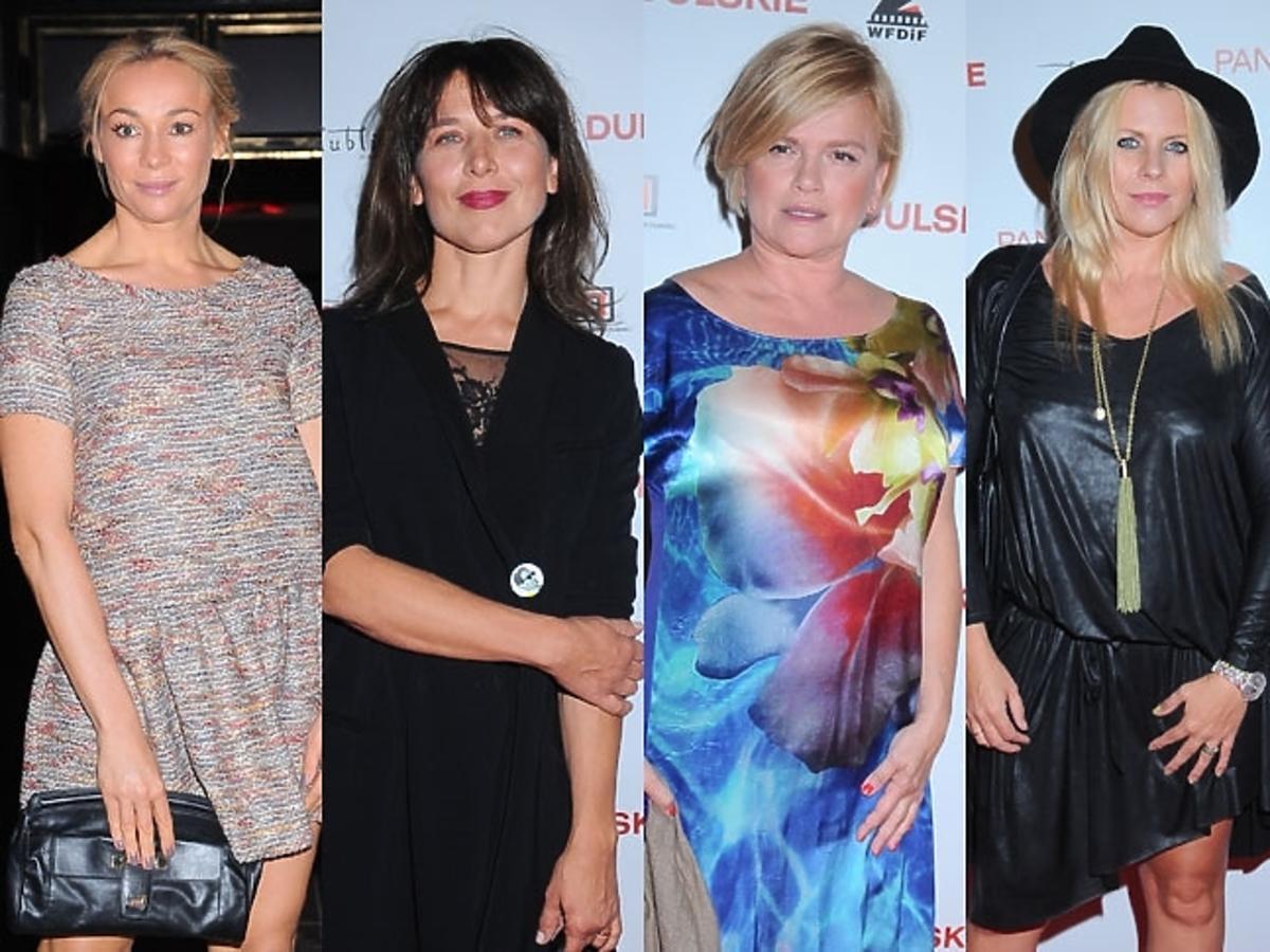 Sonia Bohosiewicz, Katarzyna Figura, Kamilla Baar, Katarzyna Herman, Marysia Sadowska na czerwonym dywanie w kinie