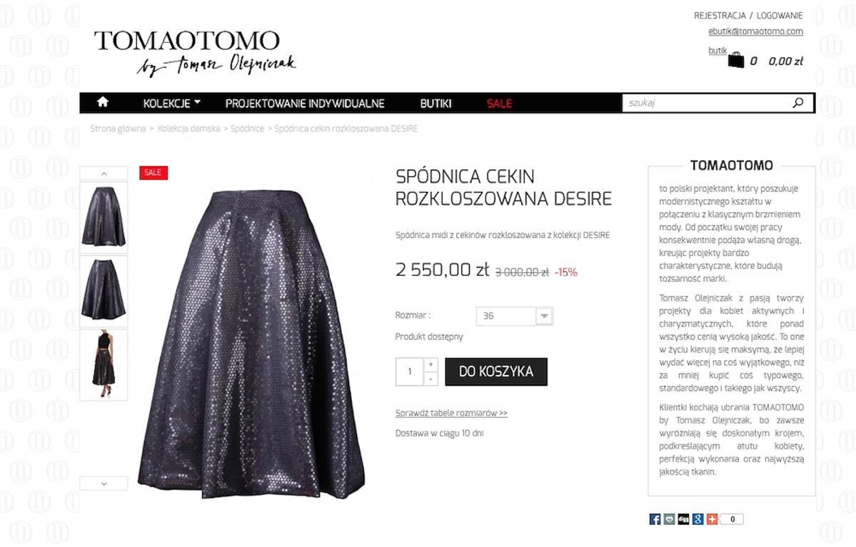 spódnica Tomaotomo