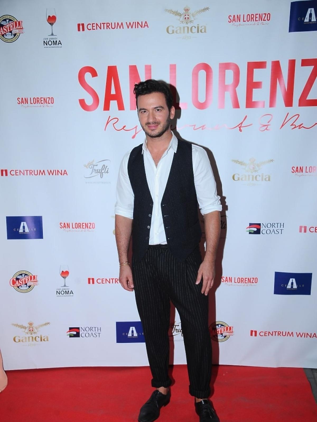 Stefano Terrazzino na otwarciu restauracji San Lorenzo