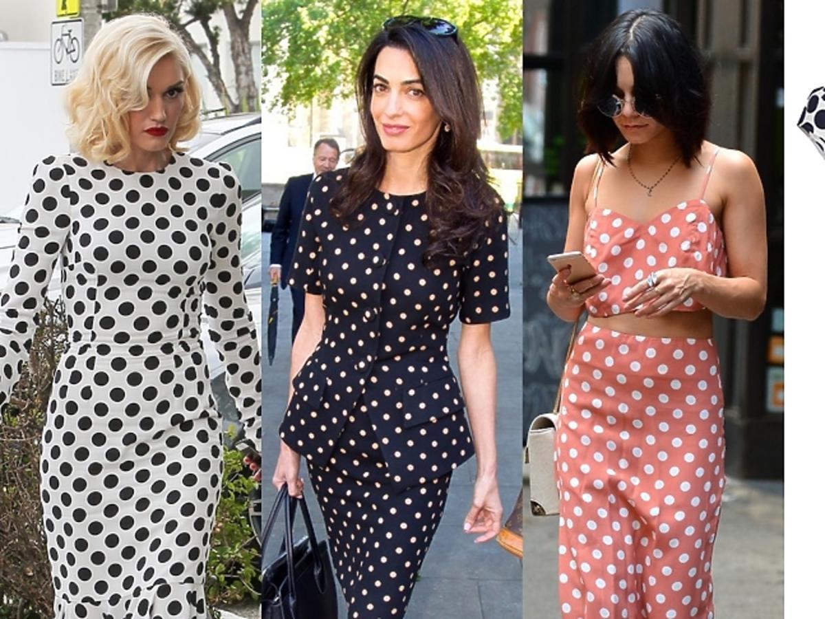 Trend: groszki, Gwen Stefani, Amal Clooney, Vanessa Hudgens