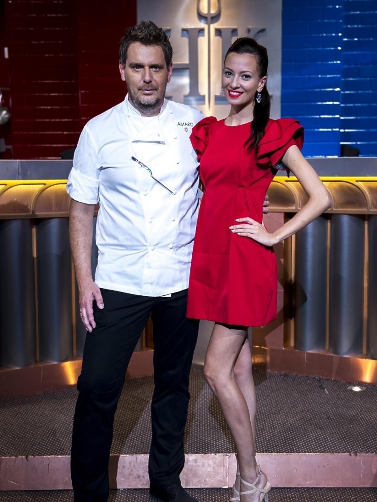 Wojciech Modest Amaro i Ada Sztajerowska na planie Hell's Kitchen