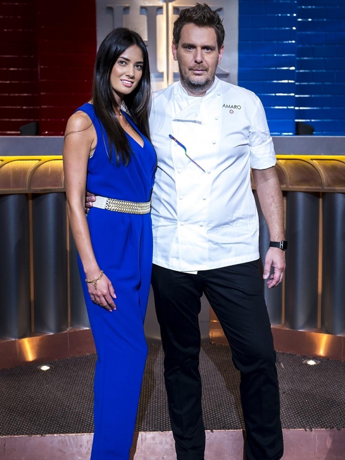 Wojciech Modest Amaro i Agata Szewioła na planie Hell's Kitchen