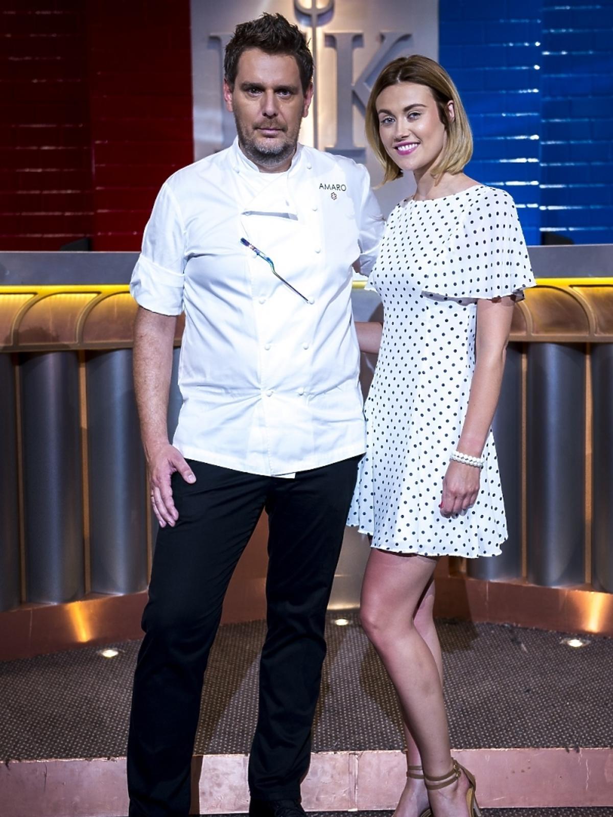 Wojciech Modest Amaro i Aleksandra Ogłaza na planie Hell's Kitchen