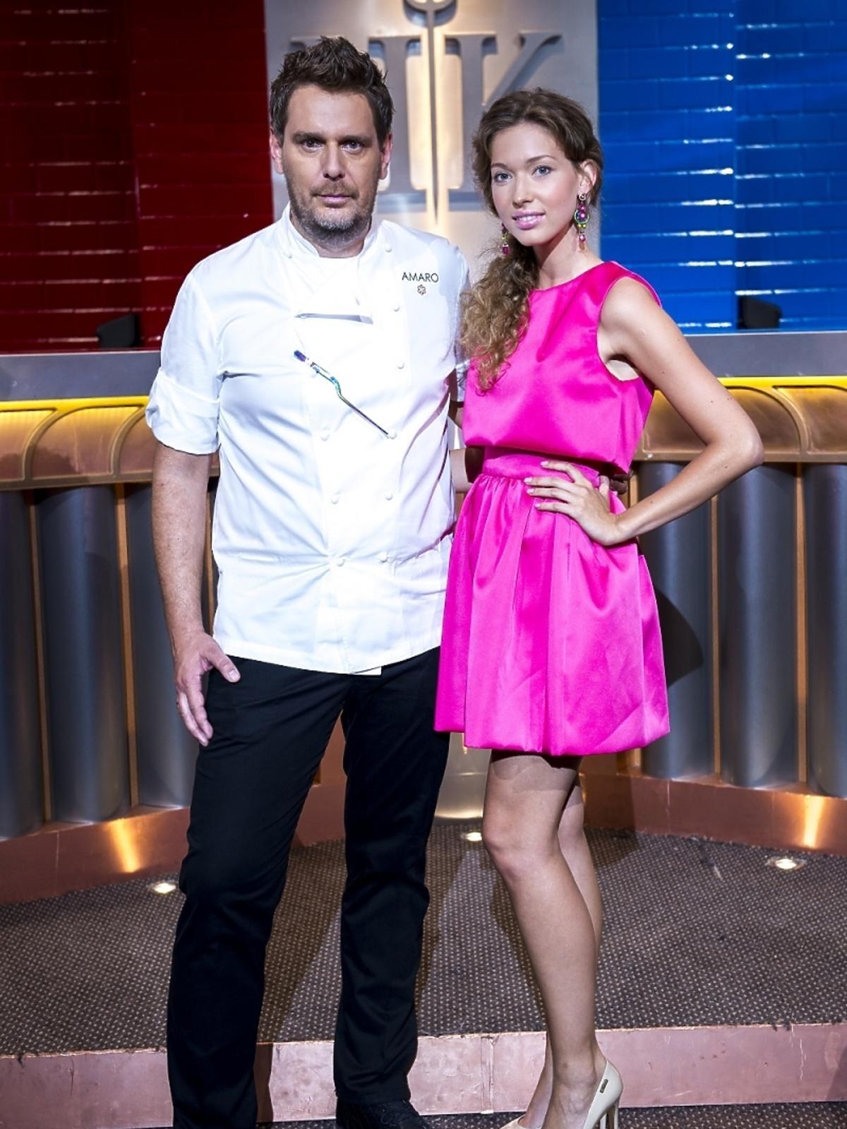 Wojciech Modest Amaro i Angelika Ogryzek na planie Hell's Kitchen