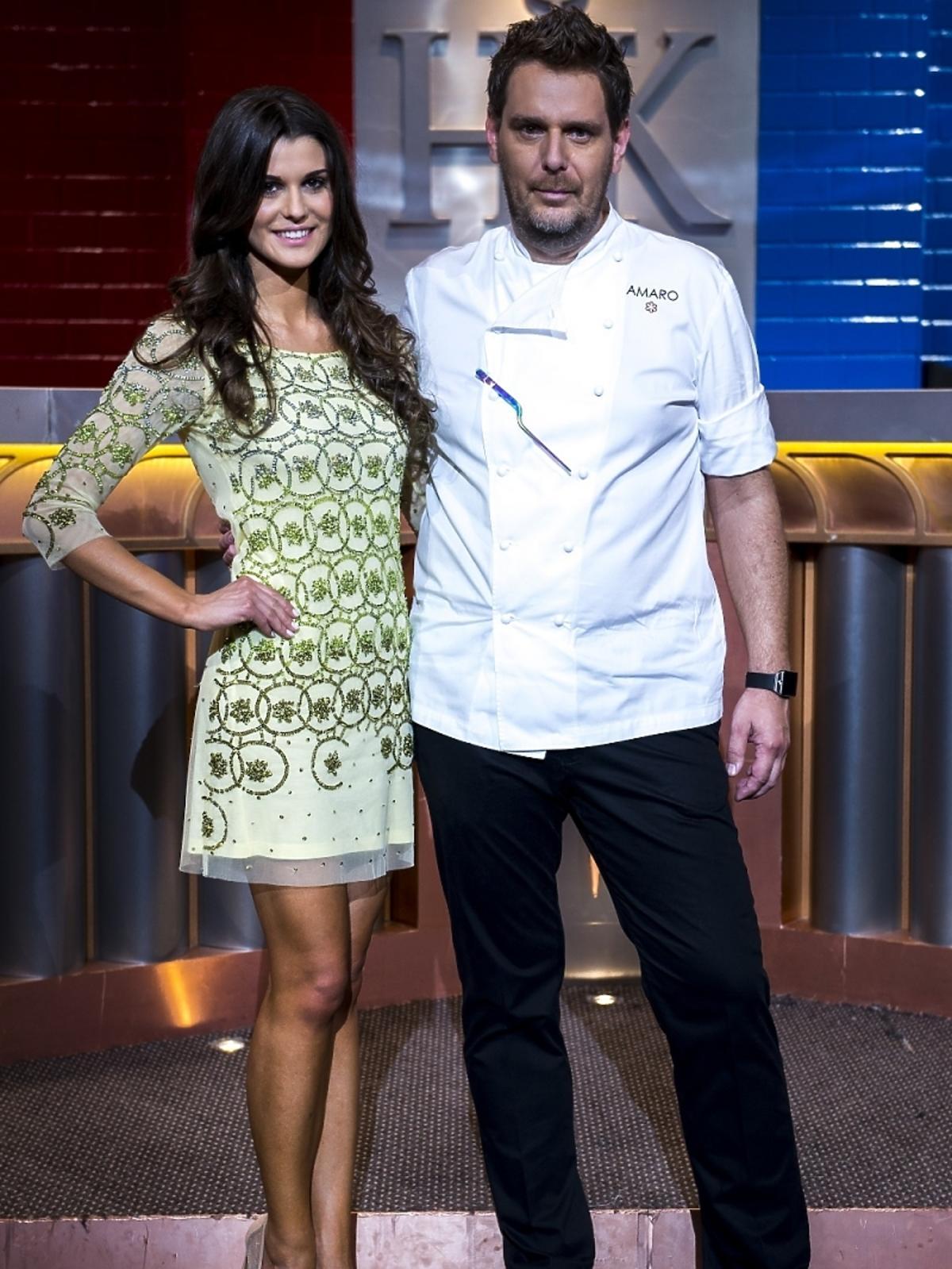Wojciech Modest Amaro i Katarzyna Krzeszowska na planie Hell's Kitchen