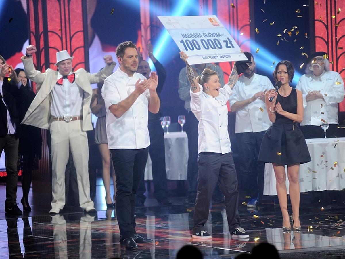 Wojciech Modest Amaro, Monika Dąbrowska i Paulina Sykut w finale drugiej edycji Hell's Kitchen