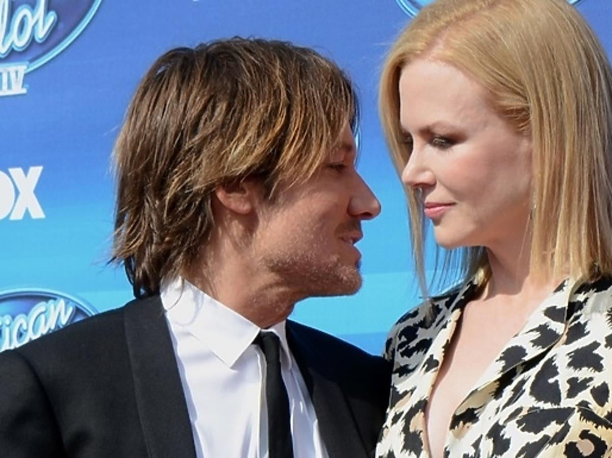 Nicole Kidman wraz z mężem podczas finału amerykańskiego Idola