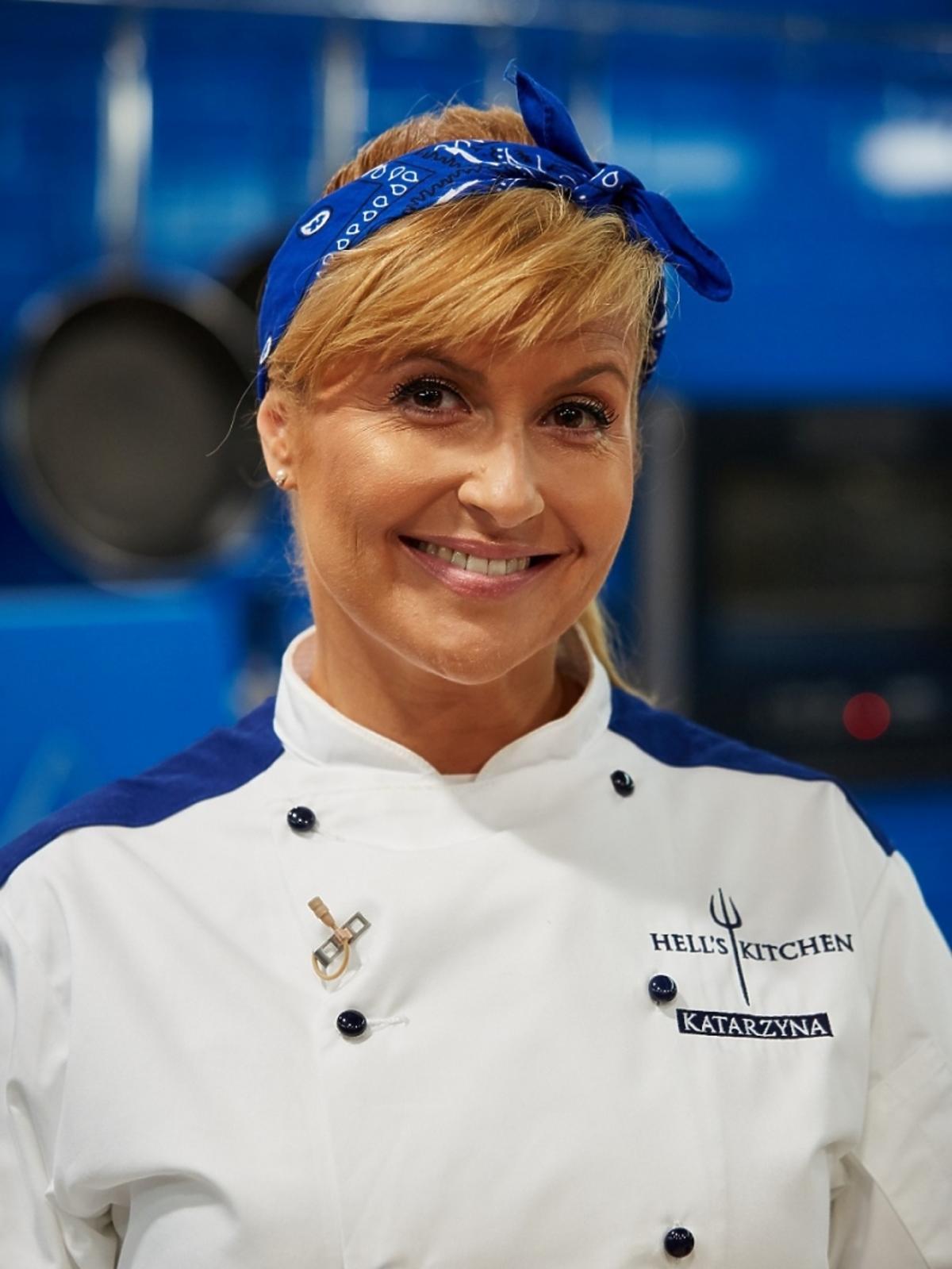 Katarzyna Skrzynecka z niebieską opaską