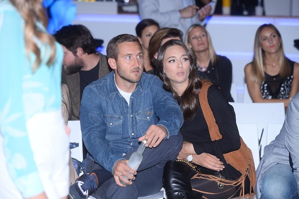 Anna Czartoryska Niemczycka z mężem na pokazie marki Guess
