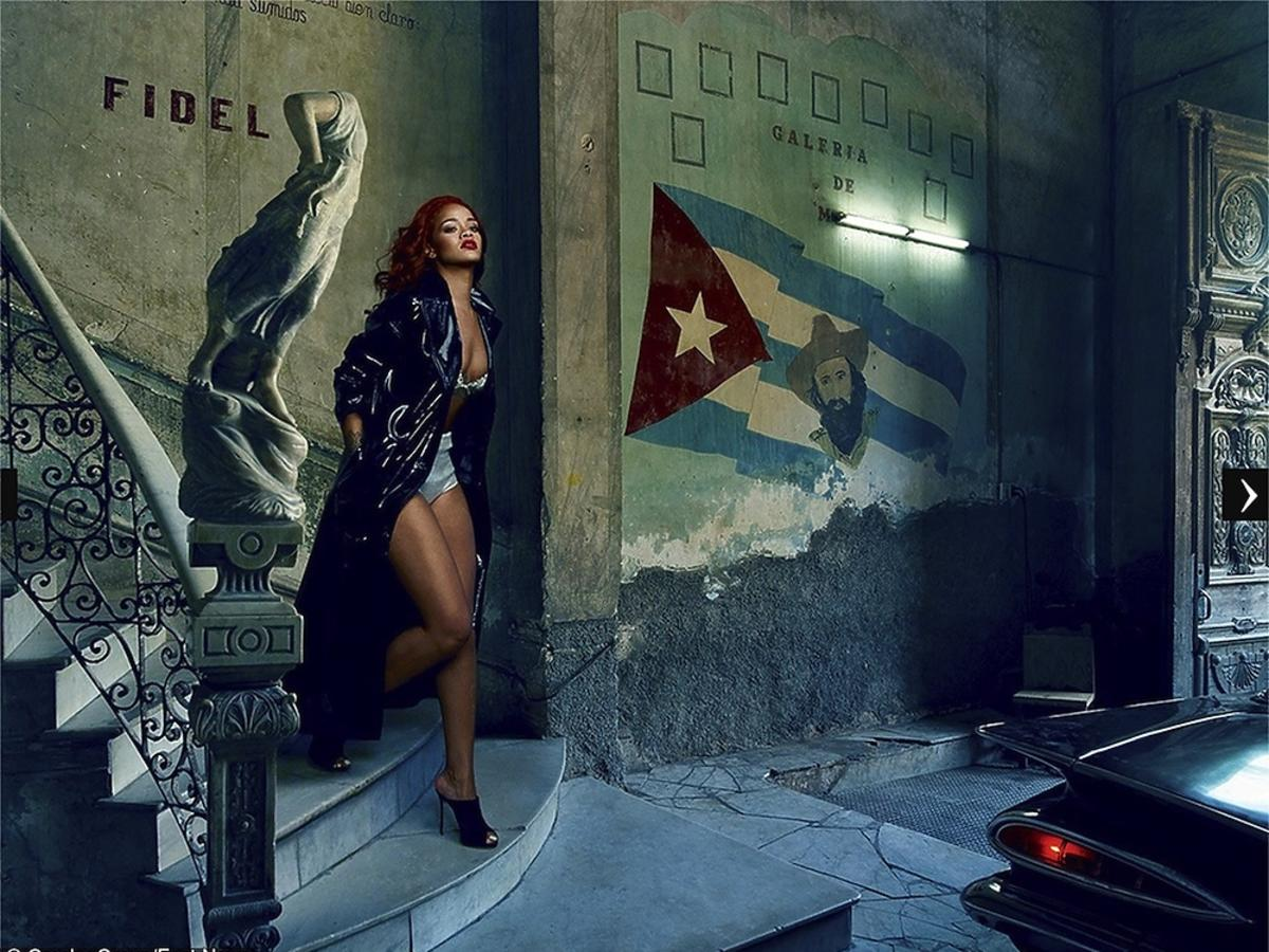 "Rihanna w ""Vanity Fair'', listopad 2015"