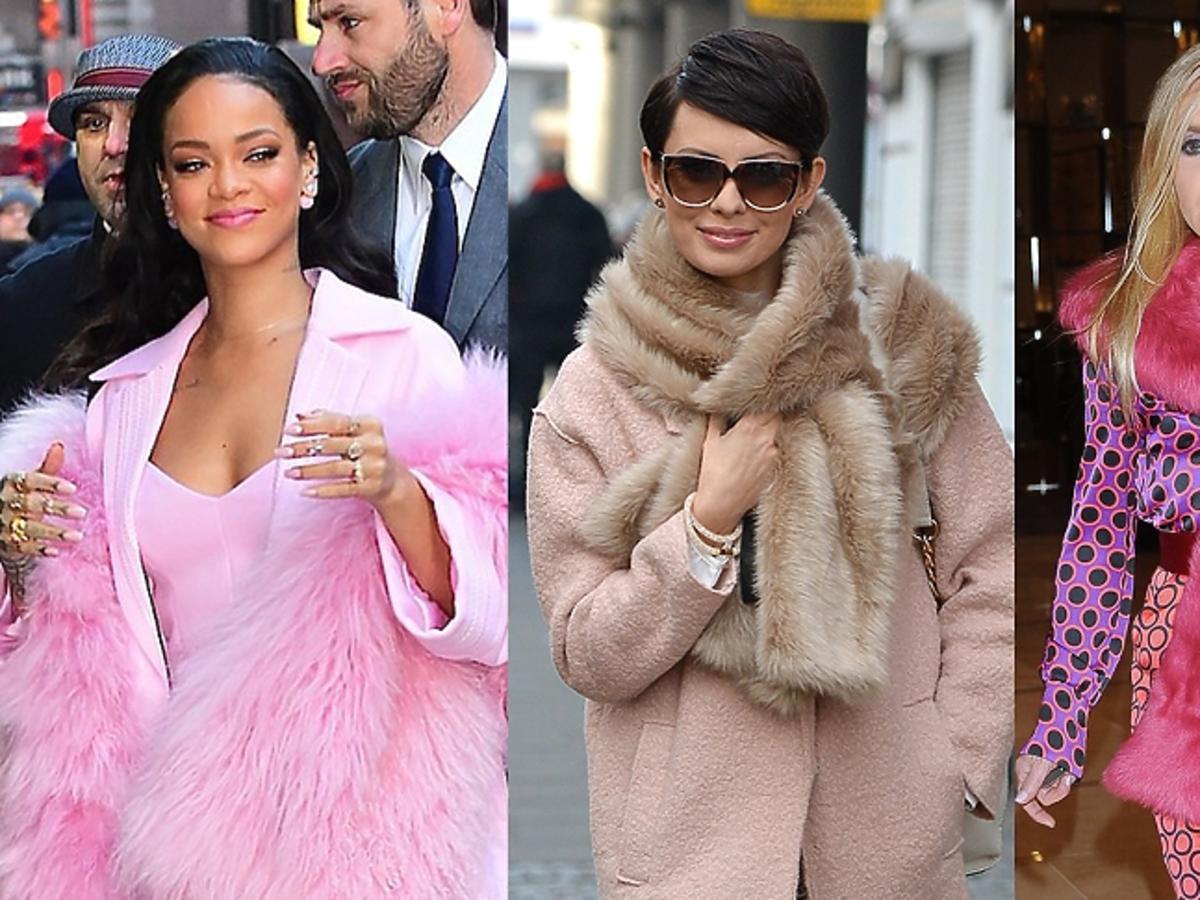 Trend: futrzana etola - Rihanna, Dorota Gardias, Monika Olejnik