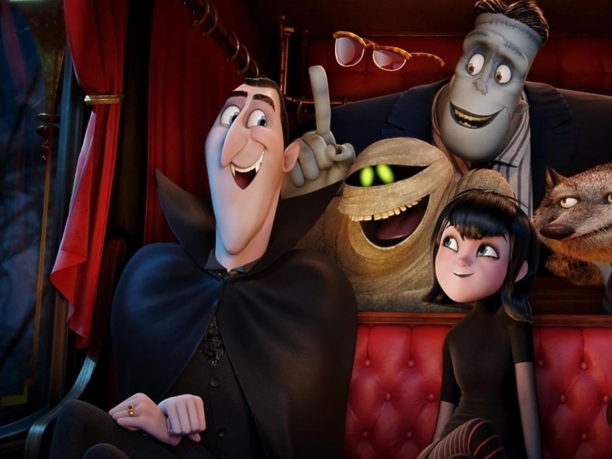 bohaterowie animowanego filmu Hotel Transylwania 2