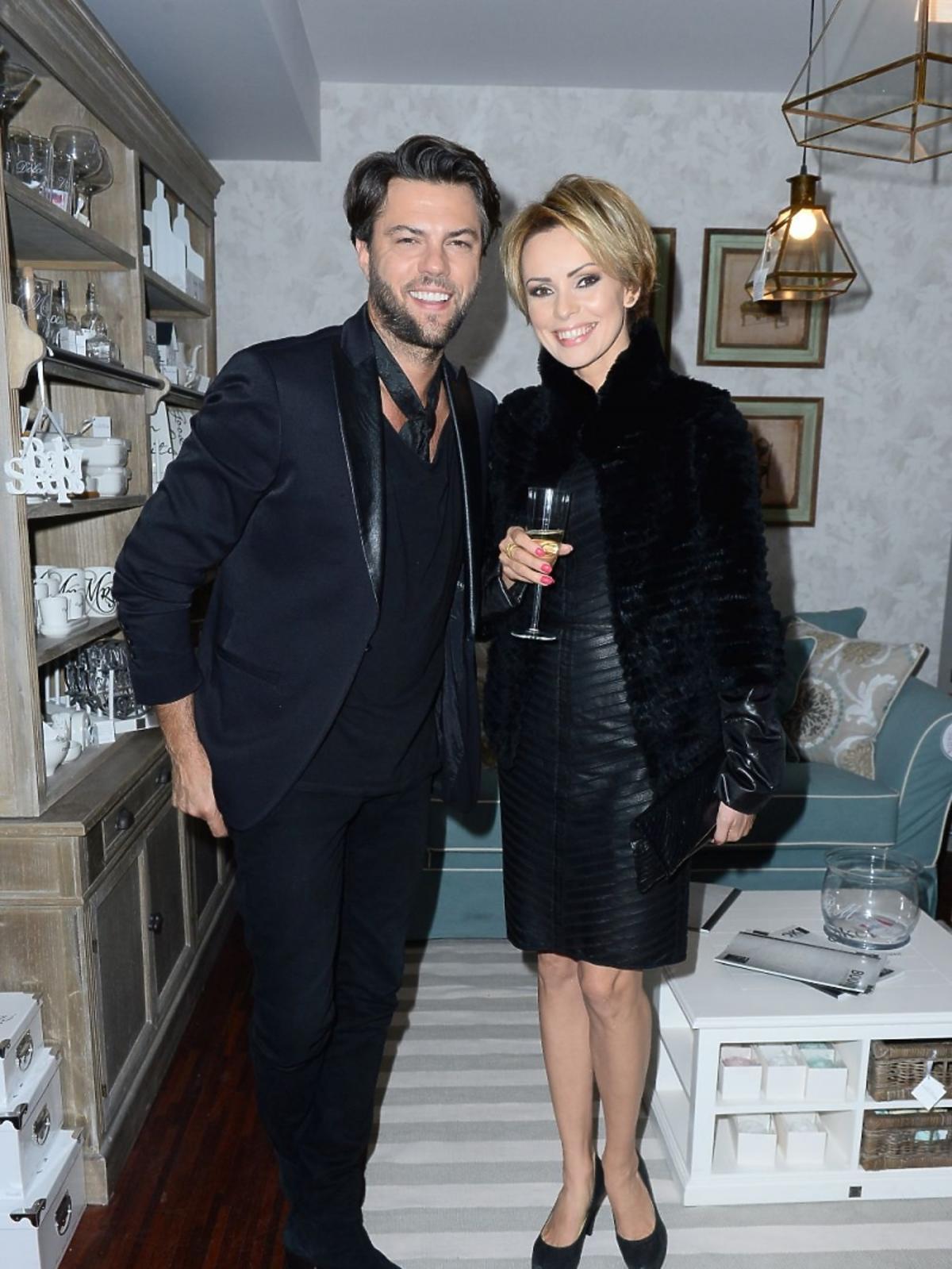 Olivier Janiak i Dorota Gardias na imprezie sklepu z meblami